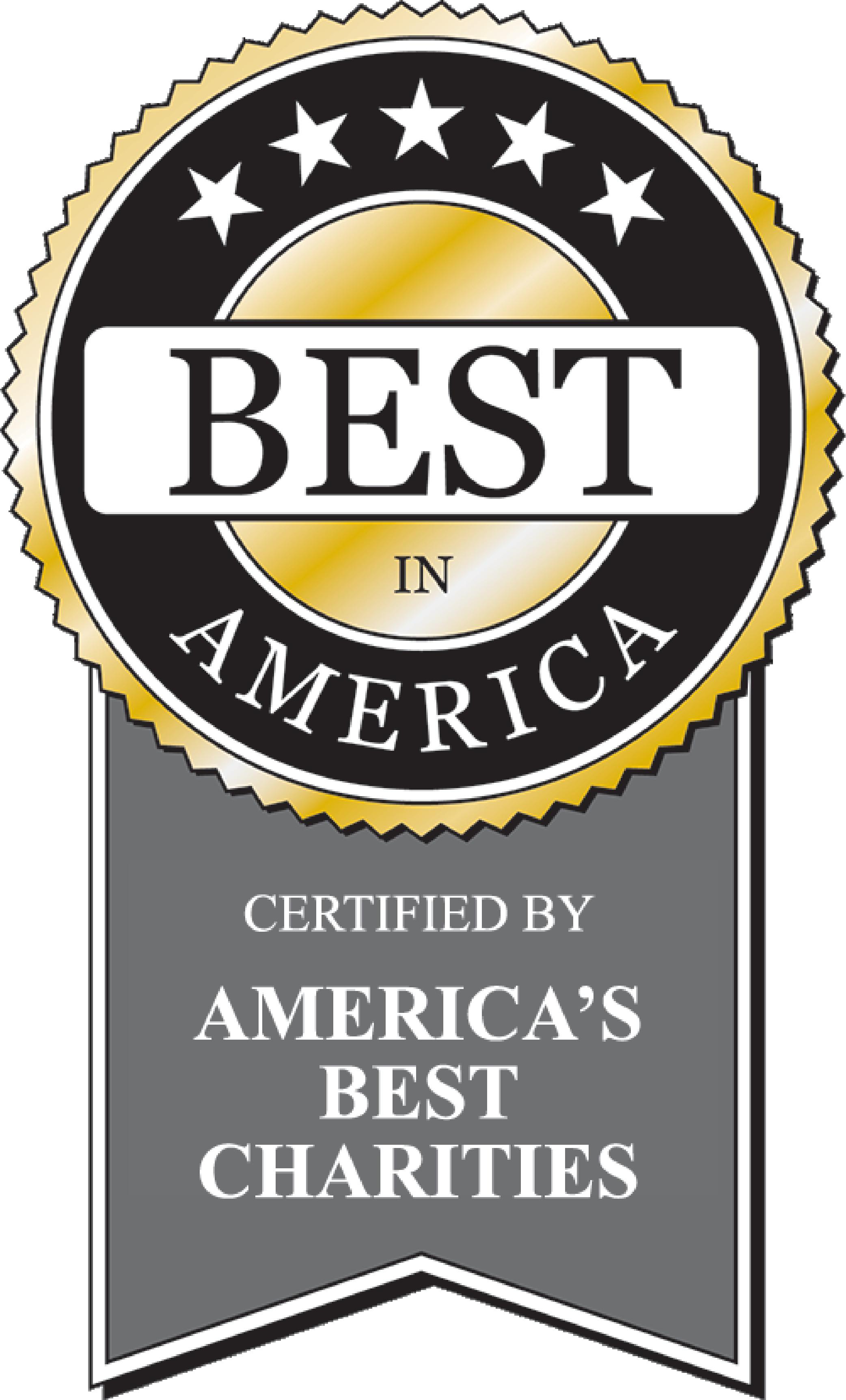 Best in America Certified by America's Best Charities gold ribbon