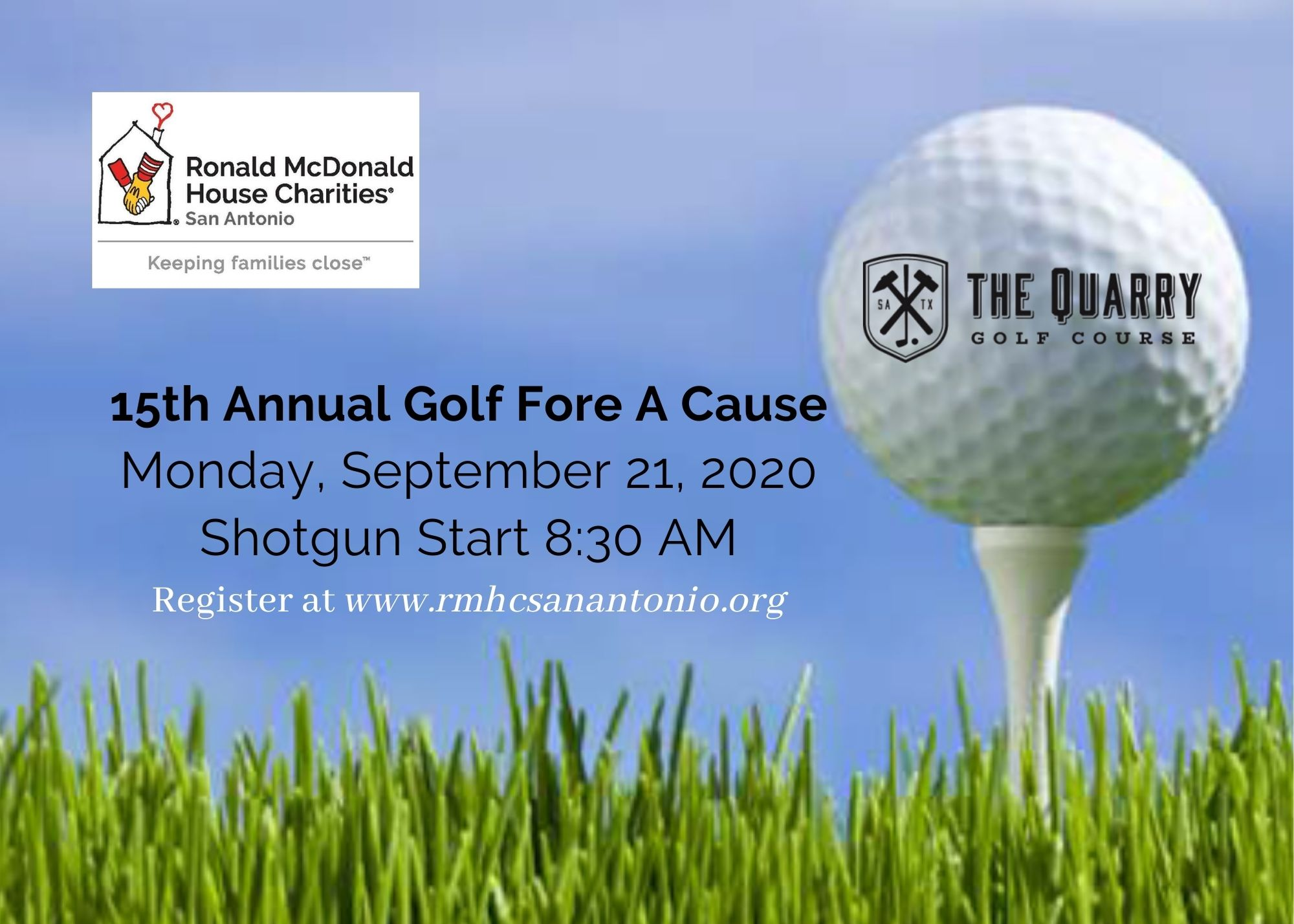 Save the date for 15th Annual Golf Fore a Cause Classic