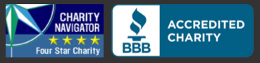 Four Start Charity from Charity Navigator, and a BBB Accredited Charity.